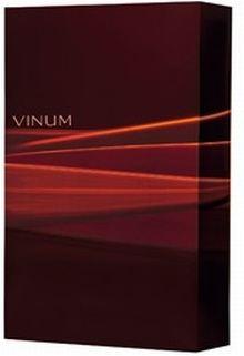 vinum Bordeauxroter  mit Lichteffekten und dem Aufdruck Vinum für 3 FlaschenGeschenkkarton