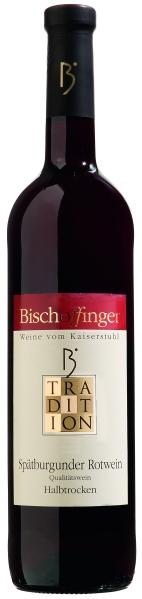 BischoffingenSp�tburgunder Rotwein Qualit�tswein halbtrocken Serie Tradition Jg. 2015Deutschland Baden Bischoffingen