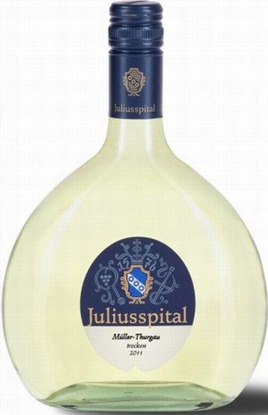 JuliusspitalM�ller-Thurgau Qualit�tswein trocken 750 ml Bocksbeutel Jg. 2012Deutschland Franken Juliusspital