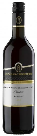 HeuchelbergGroßgartacher Grafenberg Samtrot Kabinett Jg. 2015Deutschland Württemberg Heuchelberg