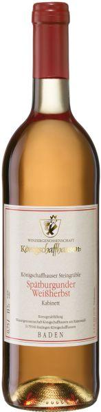 KoenigschaffhausenMarke K�nigschaffhausen Steingr�ble Sp�tburgunder Wei�herbst Kabinett Jg. 2014-15Deutschland Baden Koenigschaffhausen