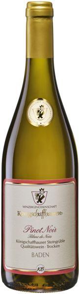 KoenigschaffhausenSteingrüble Pinot Noir Blanc de Noirs Dt. Qualitätswein Klasse Burgunder trocken  Jg. 2015-16Deutschland Baden Koenigschaffhausen