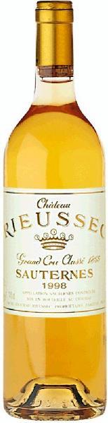 SauternesChateau Rieussec 1er Cru Classe Appellation Sauternes Controlee edels�� Jg. 2009Frankreich Bordeaux suedl_Bordeaux Sauternes