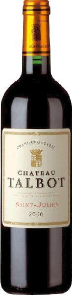TalbotChateau Talbot 4eme Cru Classe Mis en bouteille au Chateau Jg. 2012Frankreich Bordeaux Medoc Talbot