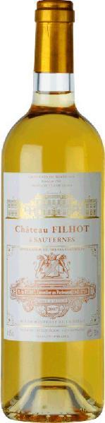 Chateau Filhot Grand Cru Classe Appellation Sauternes Controlee Jg. 2010Frankreich Bordeaux Sauternes Chateau Filhot