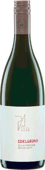 Paul AchsBlaufr�nkisch Edelgrund Qualit�tswein aus dem Burgenland Jg. 2012-13�sterreich Neusiedlersee-H�gelland Paul Achs
