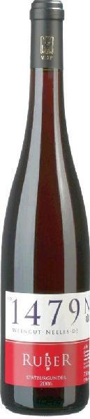 NellesRuber Spätburgunder trocken Qualitätswein von der Ahr Jg. 2013-14Deutschland Ahr Nelles