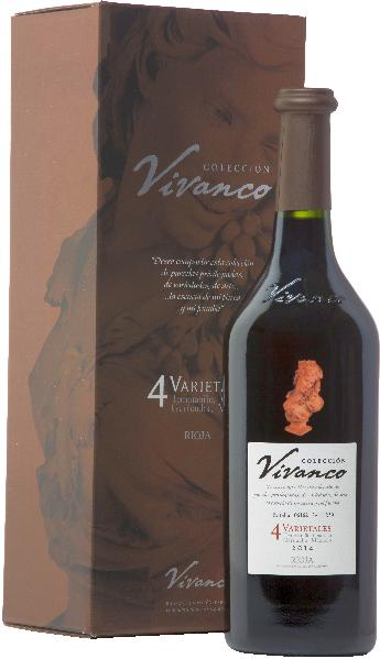 Vivanco4 Varietales Jg. 2014 Cuvee aus Tempranillo (70 %), Graciano (15 %), Garnacha Tinta (10 %), Mazuelo (5 %) 24 Monate in franz. Eiche gereiftSpanien Rioja Vivanco