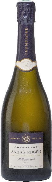Andre RogerChampagne Millesime Grand Cru Jg. 2009 Cuvee aus Pinot Noir (80 %), Chardonnay (20 %) 20 % des Grundweins 15-16 Monate im großen Holzfass gereiftChampagne Andre Roger