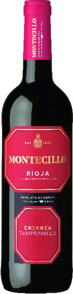 MontecilloCrianza Rioja DOCA Jg. 2012 Cuvee aus 93% Tempranillo, 7 % GracianoSpanien Rioja Montecillo