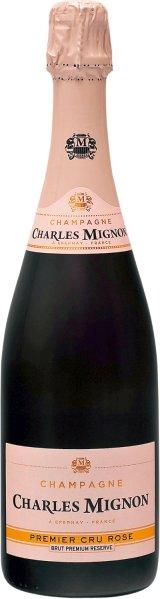 Charles MignonChampagne  Brut Rose Premium Reserve Premier Cru AOC Cuvee aus Pinot Noir 75%, Chardonnay 25%Champagne Charles Mignon