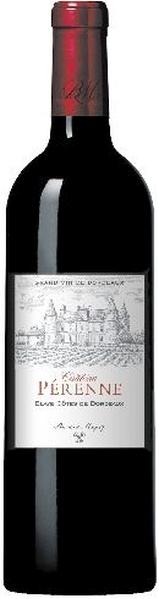 Chateau PerenneBlaye Cotes De Bordeaux Rouge AOC Cuvee aus 95% Merlot, 5% Cabernet Sauvignon 18 Monate im Barrique ausgebautFrankreich Bordeaux Chateau Perenne