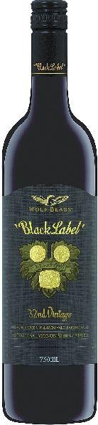 Wolf BlassBlack Label Cabernet Sauvignon Shiraz 70% Cabernet Sauvignon, 30% ShirazAustralien South Australia Wolf Blass