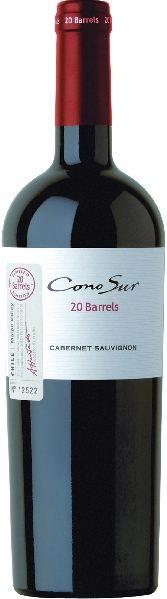Cono Sur 20 Barrels  Cabernet Sauvignon 20 Monate im Holzfass gereiftChile Ch. Sonstige Cono Sur