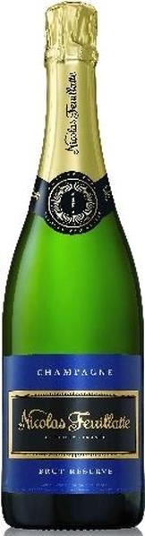 Nicolas FeuillatteReserve Exclusive Brut Champagne Cuvee aus 40% Pinot Noir, 40% Pinot Meunier, 20% ChardonnayChampagne Nicolas Feuillatte