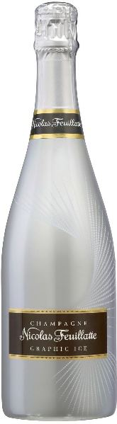 Nicolas FeuillatteGraphic Ice Silver Cuvee aus 40% Pinot Noir, 50% Meunier, 10% ChardonnayChampagne Nicolas Feuillatte