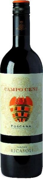 Barone Ricasoli Campo Ceni Rosso Toscana IGT Sangiovese, Merlot, CabernetItalien Toskana Barone Ricasoli