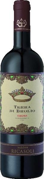 Barone Ricasoli Terra Di Brolio RossoToscano IGT Je 50% Merlot und Cabernet SauvignonItalien Toskana Barone Ricasoli