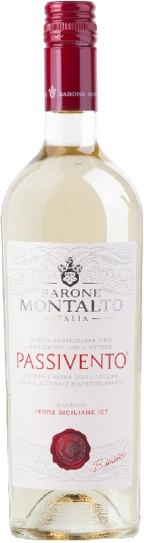 Barone MontaltoPassivento Bianco Terre Siciliane IGT Jg. 2018 Cuvee aus 80% Cataratto, 15% Chardonnay, 5% MoscatoItalien Sizilien Barone Montalto