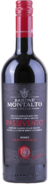 Barone Montalto Nero D Avola Terre Siciliane IGT Passivento, Collezione de Famiglia 4 Monate im Holzfass gereiftItalien Sizilien Barone Montalto