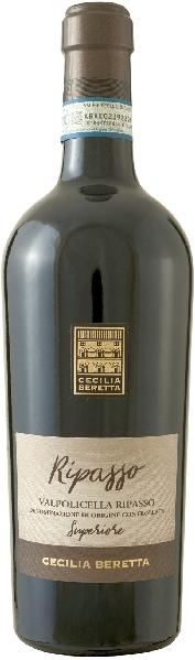 Cecilia BerettaValpolicella Superiore DOC Ripasso Cuvee aus Corvina, Rondinella, Molinara 12 Monate im Holzfass gereiftItalien Venetien Cecilia Beretta