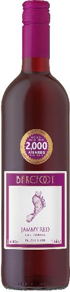 BarefootJammy Red Jg.  Cuvee aus Pinot Noir, Zinfandel und anderen roten RebsortenU.S.A. Kalifornien Barefoot