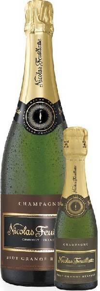 Nicolas FeuillatteChampagne Brut Grande Reserve 40% Pinot Noir, 35% Pinot Meunier, 25% ChardonnayChampagne Nicolas Feuillatte