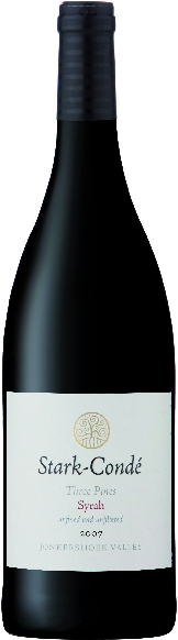 Stark CondeThree Pines Syrah Jg. 2007-08 Wine of Origin StellenboschS�dafrika Kapweine Stellenbosch Stark Conde