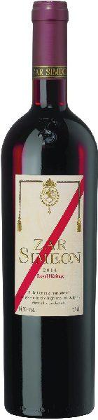 Zar Simeon Royal Heritage Jg. 2017 Cuvee aus 60% Cabernet Sauvignon, 40% Merlot im Holzfass gereiftBulgarien Zar Simeon