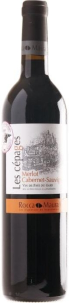 R600032116 Roquemaure Les Cepages Merlot Cabernet Sauvignon IGP 50% Merlot, 50% Cabernet Sauvignon B Ware Jg.2014