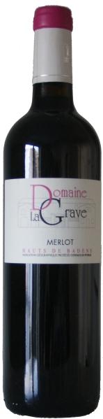 La Grave-Domaine La Grave Merlot Vin de Pays de Hauts Badens Domainenabfüllung Jg. 2017Frankreich Minervois La Grave-