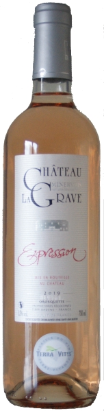 La GraveChateau la Grave Expression Rose Minervois Rose AOC Chateauabfüllung Jg. 2015Frankreich Minervois La Grave