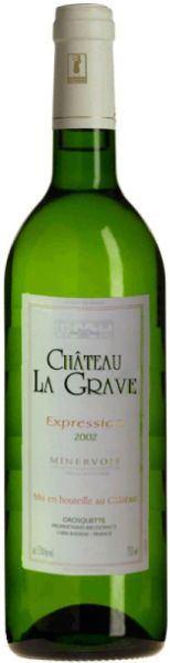 La GraveChâteau  - Expression Blanc Minervois Blanc AOC -Châteauabfüllung- Jg. 2012Frankreich Minervois La Grave