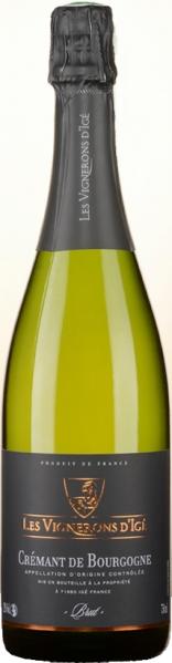Les Vigneros d IgeCremant de Bourgogne Blanc Brut Cuvee aus 80 % Chardonnay, 20 % Pinot NoirSekt Les Vigneros d Ige