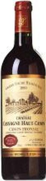 Cassagne Haut-CanonChateau  Canon Fronsac AOC Chateauabfüllung Jg. 2010Frankreich Bordeaux Cassagne Haut-Canon