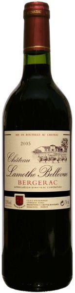 Chateau Lamothe-Bellevue Bergerac AOC 8 Monate Barrique-Ausbau Chateauabfüllung Jg. 2014Frankreich Bergerac Chateau Lamothe-Bellevue
