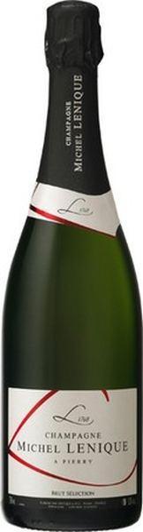 Michel LeniqueChampagne Brut Selection  50 % Chardonnay, 47 % Pinot Meunier, 3 % Pinot NoirChampagne Michel Lenique