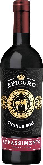 EpicuroAppassite Rosso Passito IGP Puglia Jg. 2018 Cuvee aus Negroamaro, PrimitivoItalien Abruzzen Epicuro