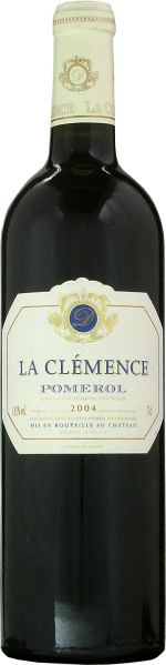 PomerolChateau La Clemence Grand Cru Jg. 2004Frankreich Bordeaux oestl.Bordeaux Pomerol