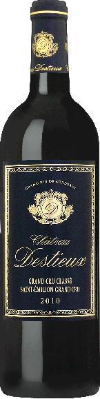 Cht. DestieuxChateau Destieux Grand Cru Classe St. Emilion Jg. 2010 Cuvee aus Merlot, Cabernet Sauvignon, Cabernet FrancFrankreich Bordeaux Cht. Destieux