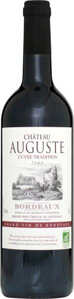R650035106 Les Deux Mers Chateau Auguste Bordeaux AC aus biologischem Anbau  B Ware Jg.2011