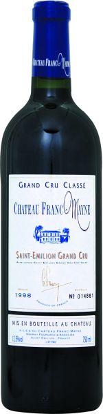 Cht. Franc MayneChateau Franc - Mayne Grand Cru Classe St. Emilion Jg. 1998Frankreich Bordeaux Cht. Franc Mayne