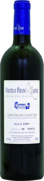 Cht. Franc MayneChateau Franc - Mayne Grand Cru Classe St. Emilion Jg. 2001Frankreich Bordeaux Cht. Franc Mayne