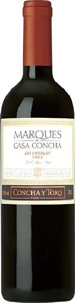 Concha y ToroMarques de Casa Concha Merlot 17 Monate im Barrique gereift Jg. 2009-13Chile Ch. Sonstige Concha y Toro
